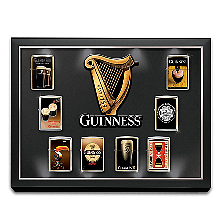 Guinness Zippo Lighter Collection with Light Up Custom Display: 1 of 8000