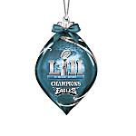 Philadelphia Eagles Super Bowl LII NFL Illuminating Glass Ornament Collection