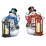 Warm Wishes Illuminated Snowman Tabletop Centerpiece Collection