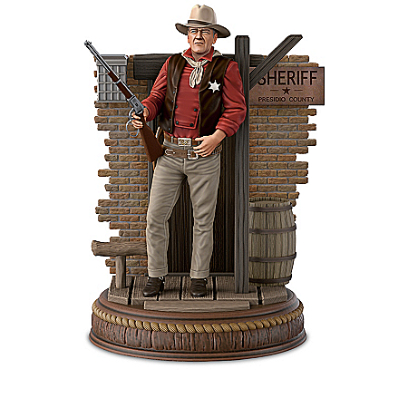 John Wayne: Silver Screen Legend Illuminated Figurine Collection
