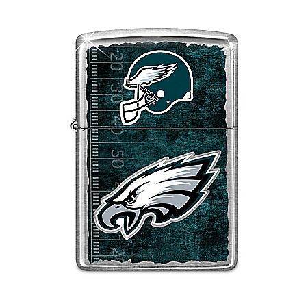 NFL Philadelphia Eagles Zippo Lighter Collection with Display: 1 of 4000