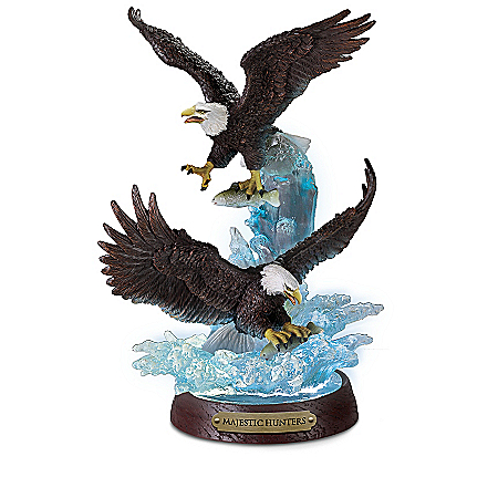 Sovereigns Of Strength Illuminated Eagle Sculpture Collection