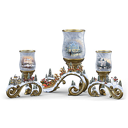 Thomas Kinkade Holiday Memories Candleholder Collection