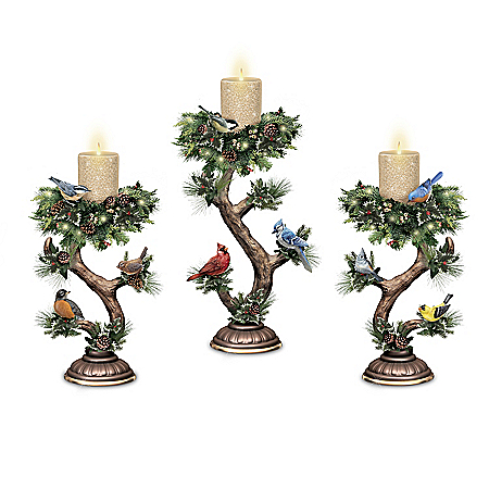 Twilight Treasures Illuminated Songbird Candle Collection