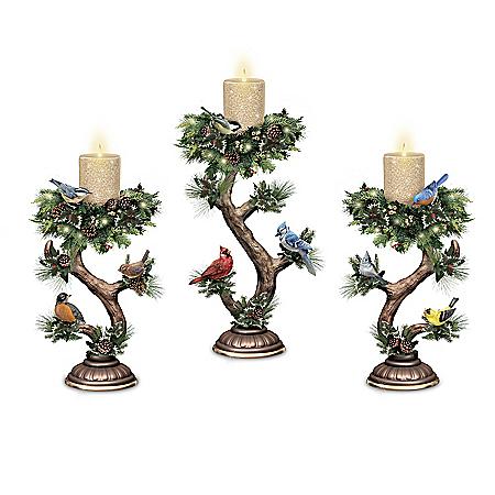Twilight Treasures Illuminated Songbird Candle Collection