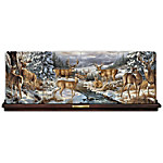 Winter Gathering By Rosemary Millette Deer Art Panorama Collector Plate Collection