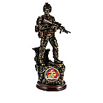 USMC - Proud History Cold-Cast Bronze Soldier Sculpture Collection With Removable Challenge Coins