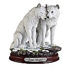 Harmony Of Love Hand-Painted Wolf Sculpture Collection
