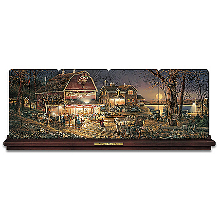 Terry Redlin Harvest Moon Ball Panorama Plate Collection
