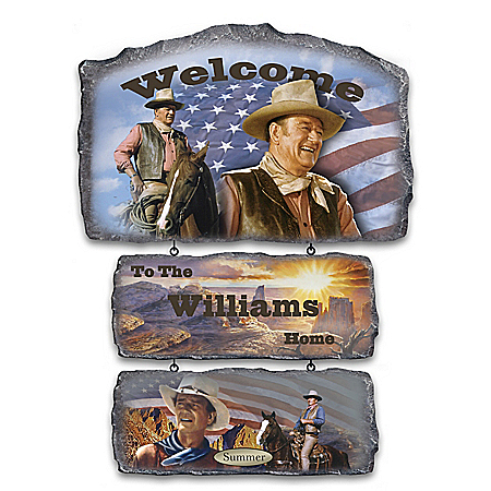 John Wayne Personalized Indoor Welcome Sign Collection