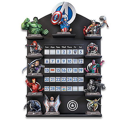 MARVEL Avengers Perpetual Calendar Collection And Display