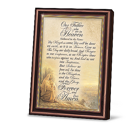 Greg Olsen The Word Of The Lord Religious Prayer Frame Collection