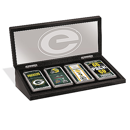 Green Bay Packers Zippo® Lighter Collection And Case