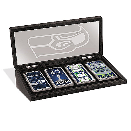 Seattle Seahawks Zippo® Lighter Collection And Case
