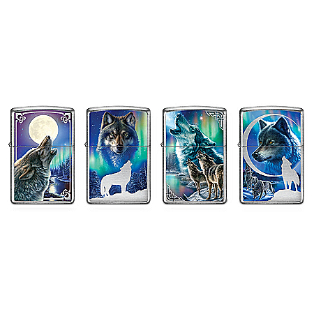 James Meger Mystic Guardians Wolf Art Zippo® Lighter Collection
