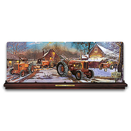Dave Barnhouse Allis-Chalmers Art Panorama Plate Collection