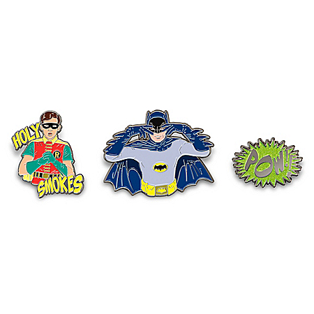 BATMAN Classic TV Series Colorful Hand-Enameled Pin Collection