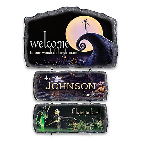 The Nightmare Before Christmas Personalized Sign Collection