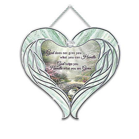 Thomas Kinkade Heavenly Messengers Hanging Suncatcher Collection