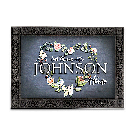 Changing Seasons Personalized Welcome Mat Collection