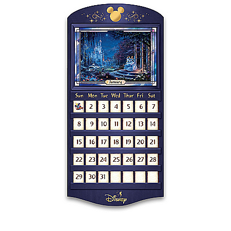 Disney Perpetual Calendar Collection With Thomas Kinkade Art