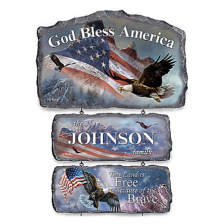 Ted Blaylock Patriotic Personalized Welcome Sign