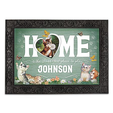 Jurgen Scholz Cat Art Personalized Welcome Mat Collection