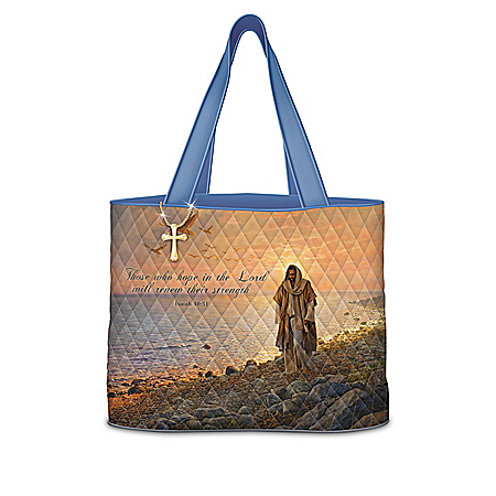 Greg Olsen Faithful Journey Quilted Tote Bag Collection