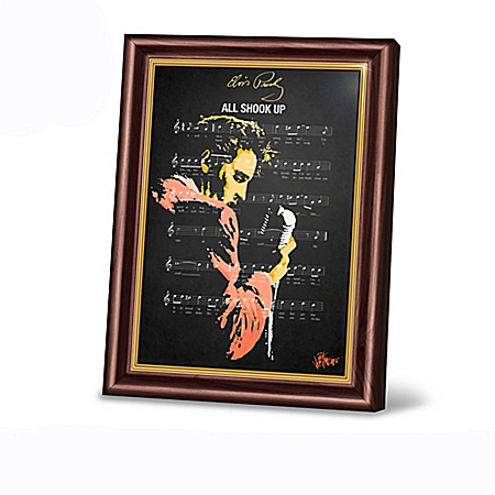 Elvis Presley Greatest Hits Framed Art Wall Decor Collection