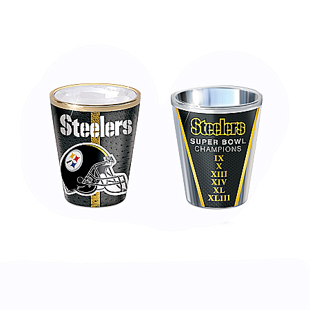 Pittsburgh Steelers Shot Glasses With Colorful Finishes