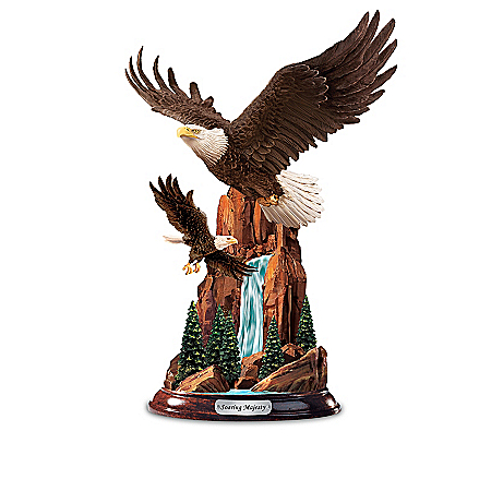 Height Of Majesty Hand-Painted Eagle Sculpture Collection