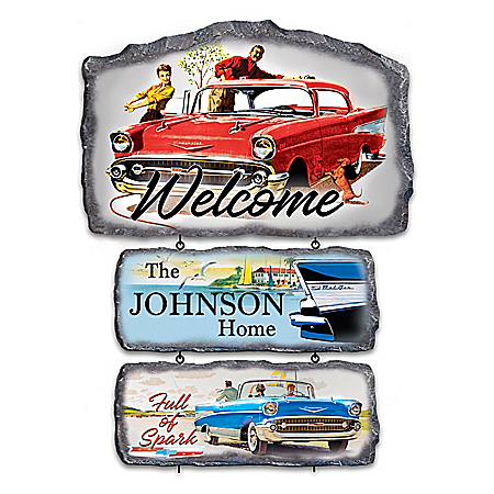 Classic Chevy Bel Air Personalized Welcome Sign Collection