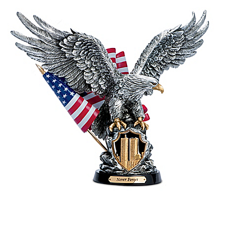 Cold-Cast Pewter Eagle Sculpture Collection Honoring 9/11