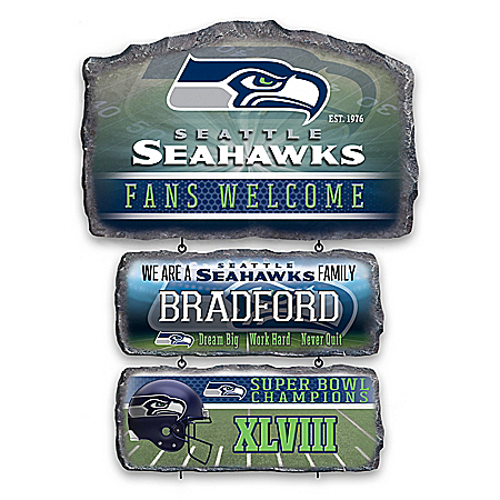 Seattle Seahawks Personalized Welcome Sign Collection – Personalized Jewelry