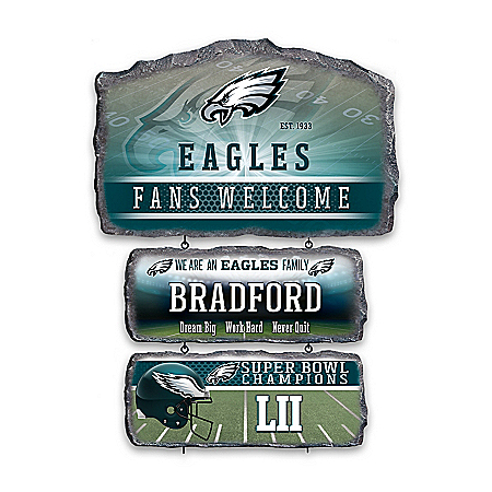 Philadelphia Eagles Personalized Welcome Sign Collection – Personalized Jewelry