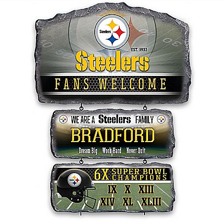 Pittsburgh Steelers Personalized Welcome Sign Collection – Personalized Jewelry