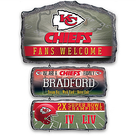 Kansas City Chiefs Personalized Welcome Sign Collection – Personalized Jewelry