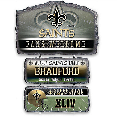 New Orleans Saints Personalized Welcome Sign Collection – Personalized Jewelry