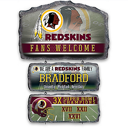 Washington Redskins Personalized Welcome Sign Collection – Personalized Jewelry