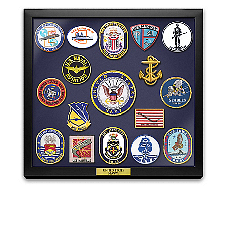 U.S. Navy Historic Replica Embroidered Patches With Display