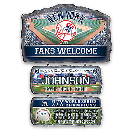 New York Yankees Personalized Welcome Sign Collection – Personalized Jewelry
