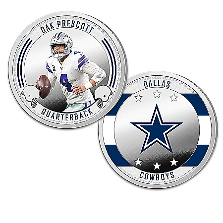 Dallas Cowboys Proof Coin Collection With Display