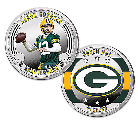 Green Bay Packers Proof Coin Collection With Display