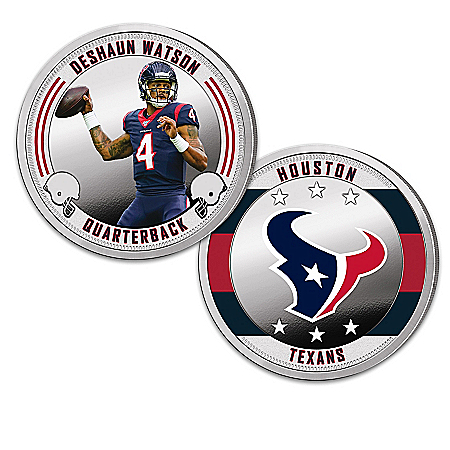 Houston Texans Proof Coin Collection With Display
