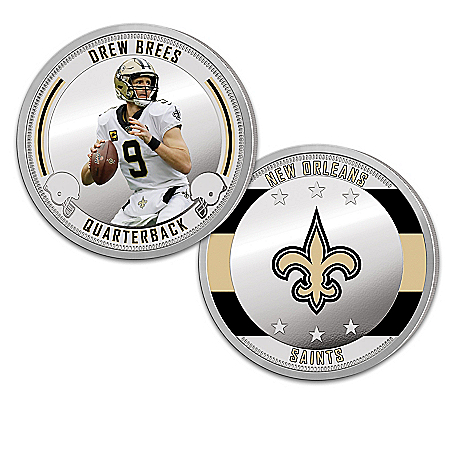 New Orleans Saints Proof Coin Collection With Display