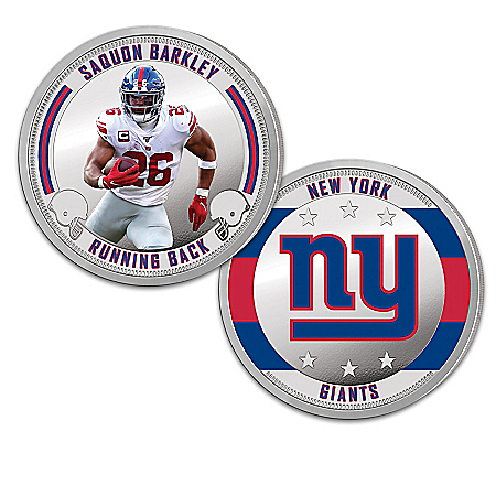The New York Giants Proof Coin Collection With Display