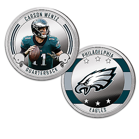 Philadelphia Eagles Proof Coin Collection With Display