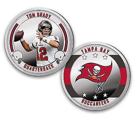 Tampa Bay Buccaneers Proof Coin Collection With Display