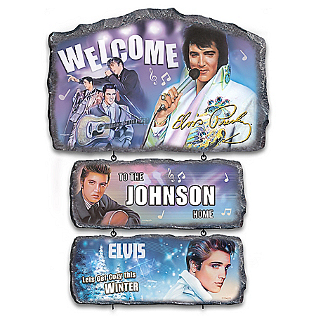 Personalized Welcome Sign Collection With Elvis Portraits