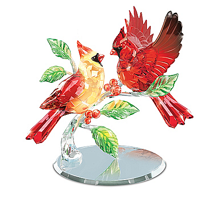 Facets Of Nature Crystal Songbird Figurine Collection